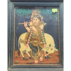 Antique Krishna Under Tree