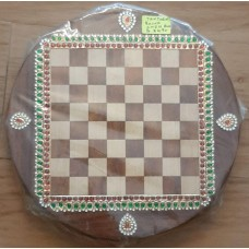 Chess board Round with Tanjore work