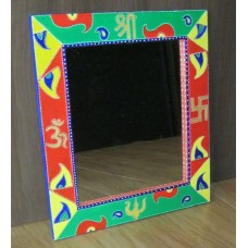 Hand Painted Colourful Mirror