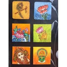 Kerala Mural Fridge Magnets