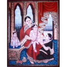 Krishna & Balarama with Yashoda