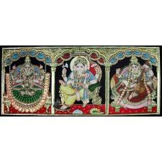 Lakshmi, Ganesha, Saraswathi