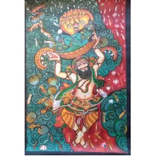 Kerala Mural - Vasudeva Krishna
