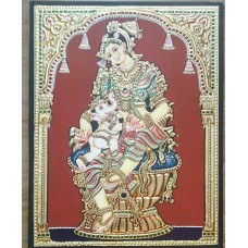 Baby Ganesh with Parvathi