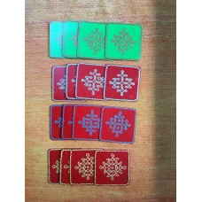 Kolam Wood Coasters