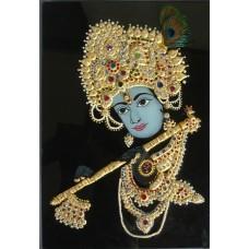 Krishna Outline in Black background
