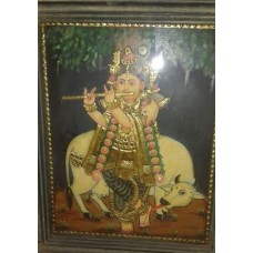 Antique Krishna Under Tree