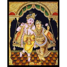 Krishna and Radha on swing