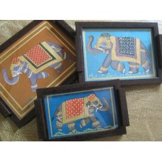 Rajasthani Silk Painting Small Trays