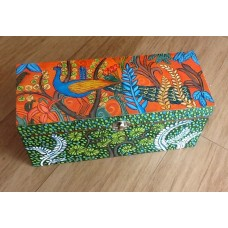 Kerala Mural Peacock Bangle Box