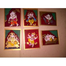 Glass Painting Ganesh Themes