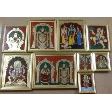 Glass painting - Vaishnavite themes