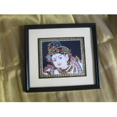 Face Krishna mounted frame