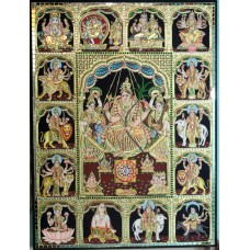 Rajarajeshwari multi god panel