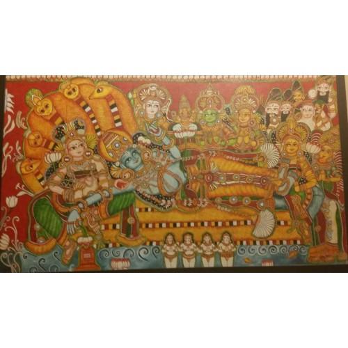 Kerala mural anantha padmanabhaswamy for Ananthasayanam mural painting