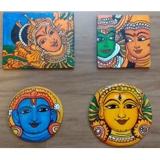Kerala Mural Fridge Magnets