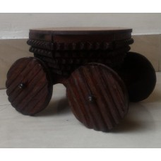 Wood Chariot Curio holder