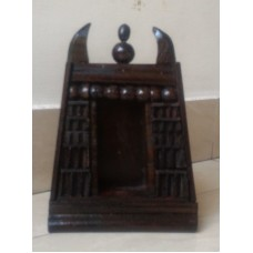 Wood mini gopuram curio