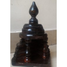 Wood small curio stand